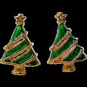 SALE Christmas Tree Pierced Earrings