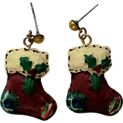 SALE Christmas Stocking Pierced Earrings