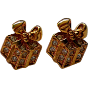 SALE Avon Sparkling Presents Earrings for Christmas / Holidays
