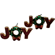 SALE JOY Holiday Pierced Earrings for Christmas