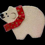 SALE P. Heck Designs Polar Bear Christmas / Holiday Pin