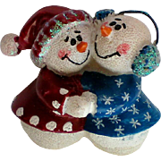 SALE Grandma and Grandpa Snowmen Pin for the Holidays