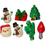 SALE Christmas  / Holiday Button Covers