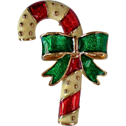 SALE Christmas Candy Cane Pin for the Holidays