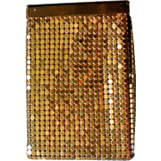 REDUCED Whiting and Davis Gold Mesh Cigarette Case or Purse