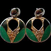 SALE Edgar Berebi Large Dangle Pierced Earrings
