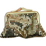 Whiting & Davis Gold Metal Mesh Coin Purse