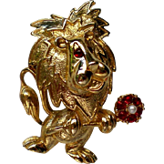 Gerry's Lion with Flower Pin