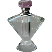 Beveled Glass Perfume Bottle