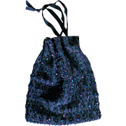 Beaded Draw String Evening Bag / Purse