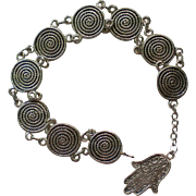 Silver Metal Link Bracelet from Portugal