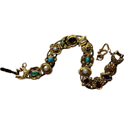 Jeweled Metal Slider Bracelet