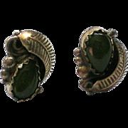 Jade Teardrop Pierced Earrings