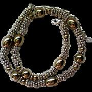 Brighton Look Silver & Gold tone Necklace