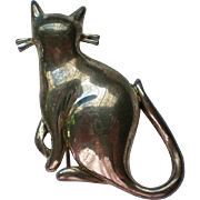 Premier Designs Silver Cat Pin