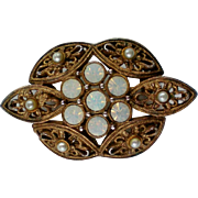 Sarah Coventry Opalescent Glass Brooch