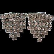 Clear Rhinestone Triangle Shoe / Dress Clips