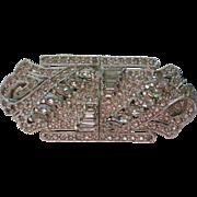 Art Deco Duette Rhinestone Fur Clip & Brooch