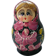 Russian Matryoshka Stacking or Nesting Dolls in Five Sizes