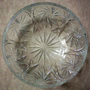 SALE Large Cut Glass Bowl