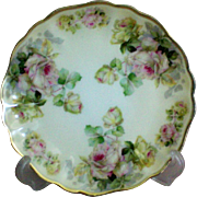 Prussia Royal Rudolstadt Scalloped Gold Rimmed Roses Plate