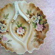 SALE Hand Painted Porcelain Nappy or Lemon Dish