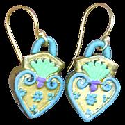 SOLD : Chimayo Sacred heart Earrings