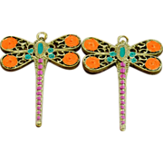 """SOLD 2 1/2"""" Chimayo Dragonfly Earrings"""