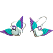 SALE Chimayo Winged Heart Earrings