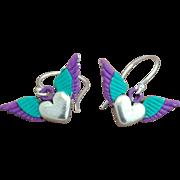 Chimayo Winged Heart Earrings