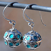 Exquisite Sterling Silver Handmade Bali Bell Earrings