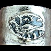 Handmade Fine Silver Pheasant Ring