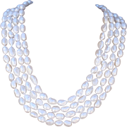 "SALE 100"" Long Hand-Knotted Baroque Cultured Freshwater Pearl Necklace"