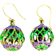 SOLD Fun, Hand-Patinaed Chimayo, Jingle Earrings