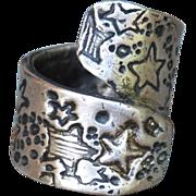 Handmade .999 Fine Silver Star Ring
