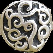 SALE Handmade .999 Fine Silver Design Ring