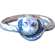 Handmade .999 Fine Silver Dog Ring
