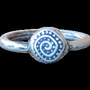 Handmade .999 Fine Silver Swirl Ring