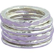 SALE Fine Silver Stacking Rings