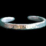 SALE .975% Pure Silver Hammered Handmade Bangle