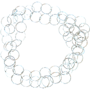 """54"""" long .999 Fine Silver Hammered Hoop Chain Necklace"""