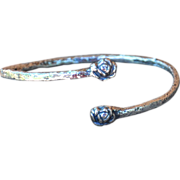 .975 Pure Silver Rose Flower Bangle