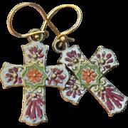 SOLD Chimayo Cross Earrings - Red Tag Sale Item