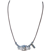 .999 Fine Silver Cat and Fish Sterling Bali Bead Necklace