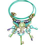 SOLD Chimayo Hand-Patinaed Key Charm Necklace