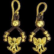 SOLD Angel Earrings on 24K Gold Vermeil Ear Wires