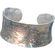 Pure Silver .975 Handmade Thick Cuff Bangle