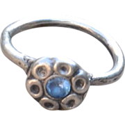 Handmade .999 Fine Silver Flower Ring