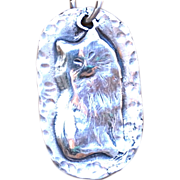 Things Finer .975 Silver Cat Pendant