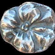 Handmade Fine Silver .999 Flower Ring
